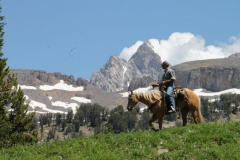 Brian Thomas trail riding in the Tetons